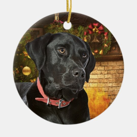 Black Lab Christmas Ornament