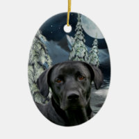 black labrador christmas dcor black lab