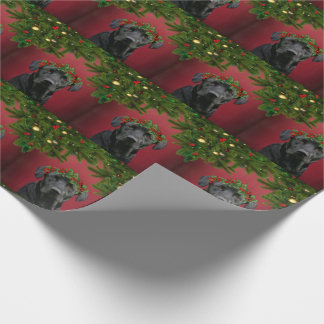 Black Lab Christmas Wrapping Paper