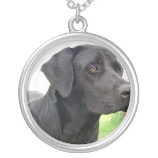 Black Lab Dog Necklace