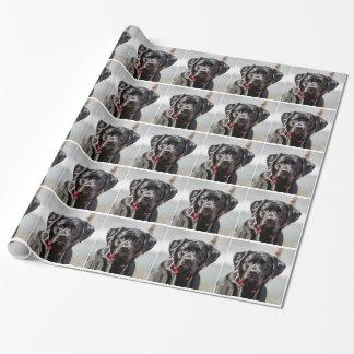 Black Lab Dog Pet Black Labrador Retriever Wrapping Paper