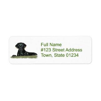 Black Lab Dog Return Address Label
