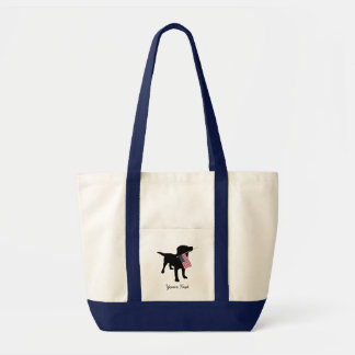 Black Lab Dog with USA American Flag, 4th of July Tote Bag
