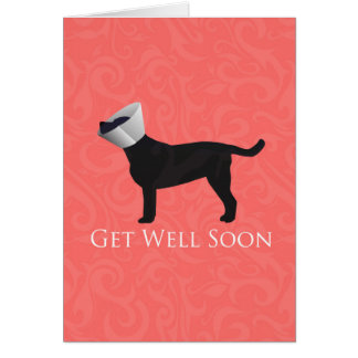 Black Lab Get Well Soon Design Greeting Card