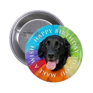 Black Lab Happy Birthday Button Pinback Button