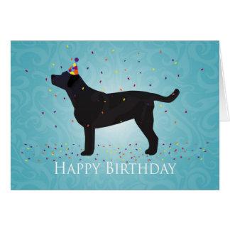 Black Lab Happy Birthday Design Greeting Card