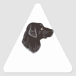 Black Lab Head Triangle Sticker