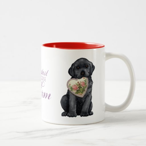Black Lab Heart Mom Mug