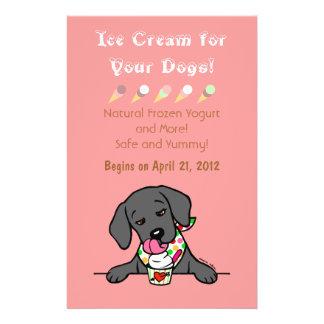 Black Lab Ice Cream for Dogs Flyer Custom Flyer