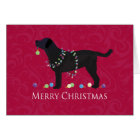 Black Lab Merry Christmas Design Card
