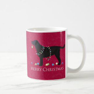 Black Lab Merry Christmas Design Coffee Mug
