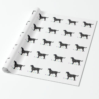 Black Lab Merry Christmas Design Wrapping Paper