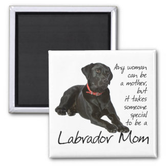 Black Lab Mom Magnet