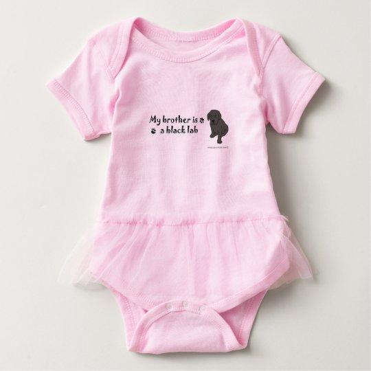 black lab-more breeds baby bodysuit
