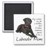 Black Lab Mum Magnet