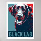 Black Lab Patriotic Political Parody Poster