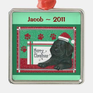 Black Lab Personalized Ornament