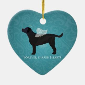 Black Lab Pet Memorial Sympathy Pet Loss Design Christmas Ornament