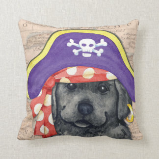 Black Lab Pirate Cushion