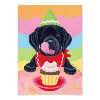Black Lab Puppy Birthday Invitations Custom Announcements