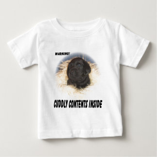 Black Lab Puppy Cuddly Contents Baby T-Shirt