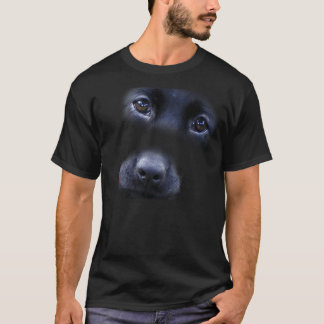 Black Lab Puppy face t-shirt
