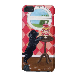 Black Lab Puppy with Cupcakes painting iPod Touch 5G Covers