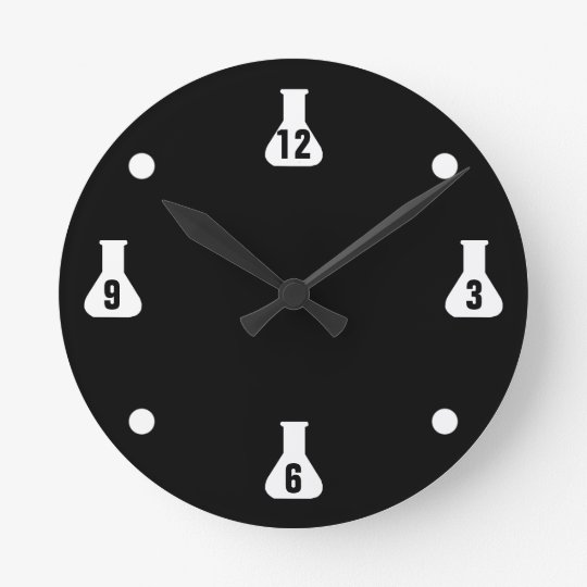 Black Lab Rat Round Clock
