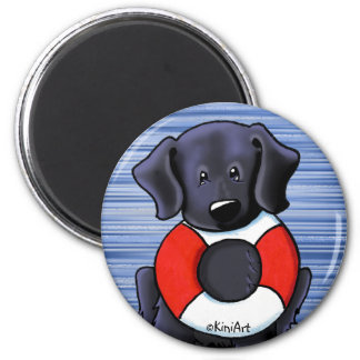 Black Lab Rescue Magnet
