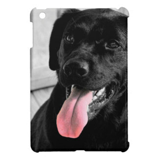 Black Lab Selective Color iPad Mini Covers