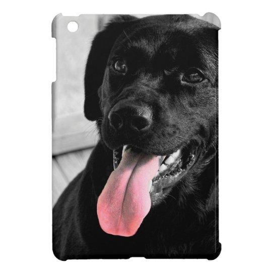 Black Lab Selective Colour iPad Mini Case