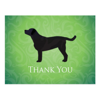 Black Lab Thank You Design Postcard