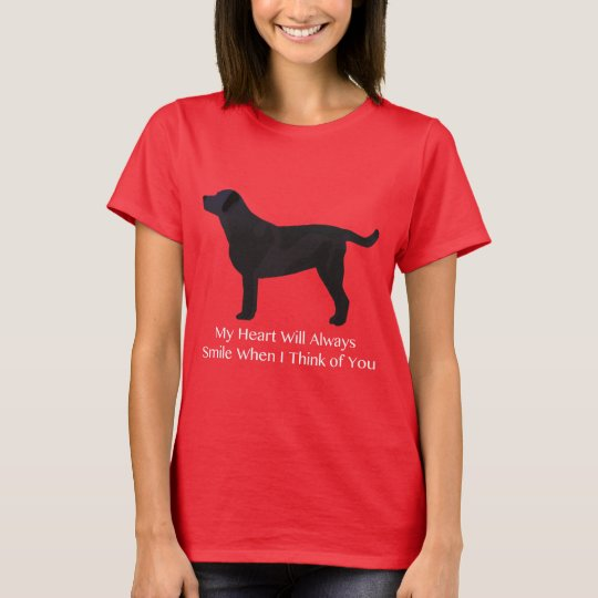 Black Lab Thinking of You Design T-Shirt