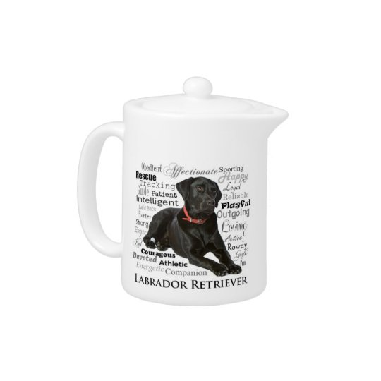 Black Lab Traits Teapot