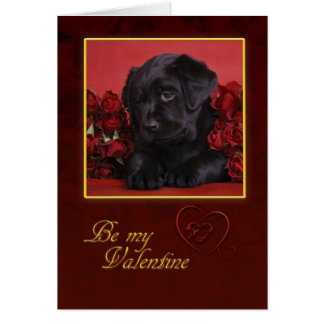 Black Lab Valentine Card