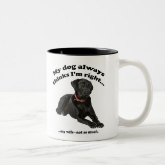 Black Lab vs Wife Mug