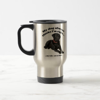Black Lab vs Wife Mug