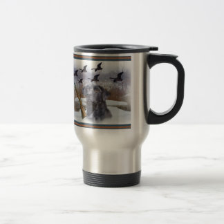 Black Lab  W Pheasants Travel Mug