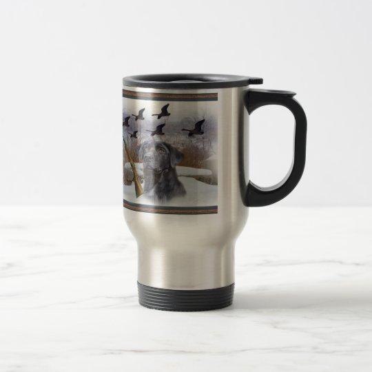 Black Lab W Pheasants Travel Mug