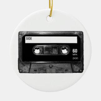 Black Label Cassette Round Ceramic Decoration