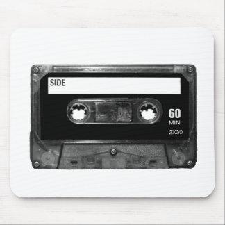 Black Label Cassette Tape Mouse Pad