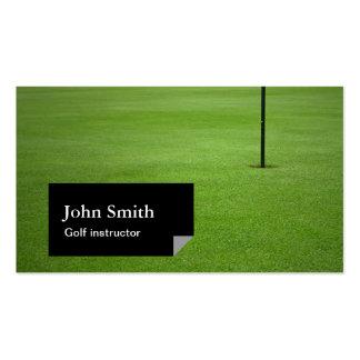 Black Label Golf Instructor Business Card