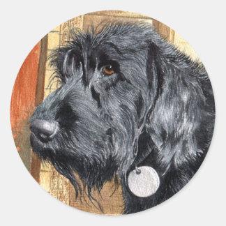 Black Labradoodle #1 Stickers