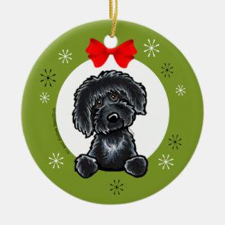 Black Labradoodle Christmas Classic Christmas Ornament