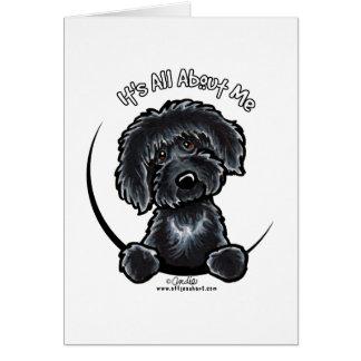 Black Labradoodle IAAM Simple Card