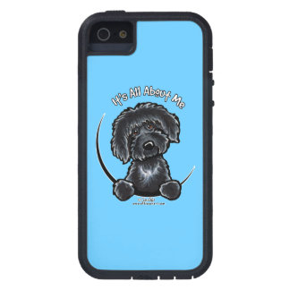 Black Labradoodle Its All About Me Off-Leash Art™ Tough Xtreme iPhone 5 Case