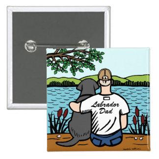 Black Labrador and Dad Pins