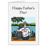 Black Labrador and  Dad Greeting Card