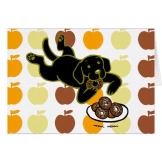 Black Labrador and Doughnuts! Card