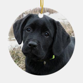 Black Labrador - Awaiting Spring Christmas Ornament